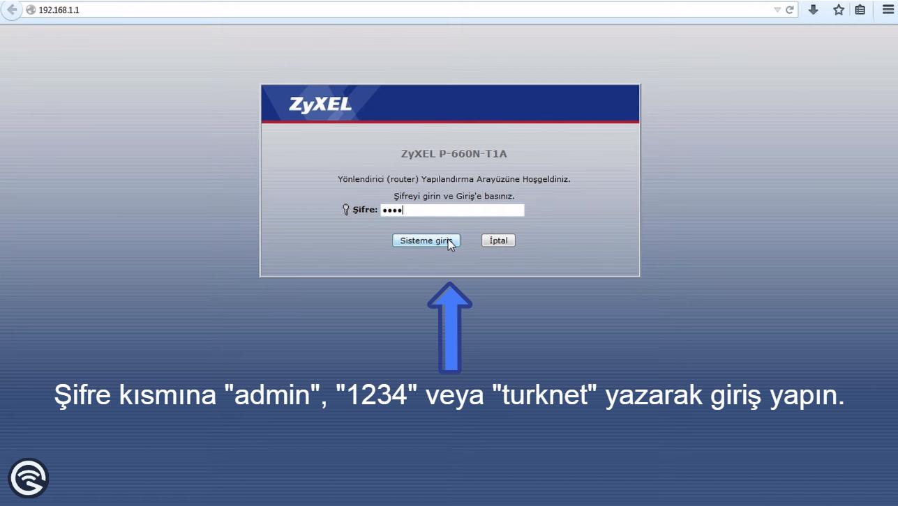 TurkNet Modem Şifresi Değiştirme